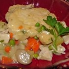 Chicken Pot Pie VIII - Old fashioned, made-from-scratch chicken pot pie.
