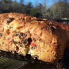 Jule Kaga - This is a Swedish cardamom bread adorned with candied cherries, citron and golden raisins.