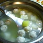 Winter Melon Meatball Soup - This Chinese soup of pork meat balls and winter melon is very warming.  I love to make this during the winter months when it's chilly outside.
