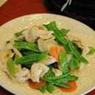 Chicken and Snow Peas - Chicken and vegetables are quickly cooked in an Asian style sauce.