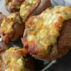 Stuffed Mushrooms III - Mushroom caps stuffed with a mixture of Italian cheeses and pesto.