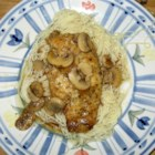 Mozzarella Chicken Marsala - Chicken breasts simmered in Marsala wine, broth, mushrooms and  - ta dah - mozzarella cheese!