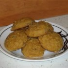 Pumpkin Cookies I - These soft and chewy cinnamon scented cookies are make with butter, oats, brown and white sugar, raisins and pumpkin puree.