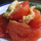 Stir Fry Tomato and Eggs - Scrambled eggs together with chopped tomatoes is a favorite in our family. This is an extremely easy dish that is delicious and quick to prepare. Serve with rice.