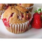 Florida Strawberry Muffins - These are moist and delicious despite the fact that there is no liquid other than the berry juice.