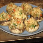 Crab and Lobster Stuffed Mushrooms