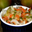 Curtido (El Salvadoran Cabbage Salad) - This El Salvadoran cabbage salad is used as a relish or served with pupusas, which are thick, hand-made tortillas, very common in Latin American cuisine.