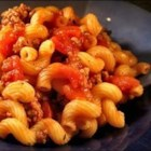 Goulash - Macaroni and beef served steaming hot with a delicious assortment of vegetables and seasonings.