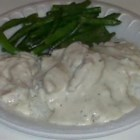 Chicken Jerusalem I - Chicken breasts baked with a creamy white wine sauce. This quick and easy recipe is one of my husband's favorites. The taste far exceeds the preparation, which makes it one of my favorites, too!