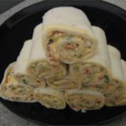 Spicy Tortilla Roll-Ups - This vegetarian special gets its bite from canned green chiles and hot pepper sauce; cream cheese cools things down.