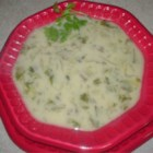 Mushroom and Endive Soup - A hearty yet light blend of mushrooms and endive that gets progressively spicier as you eat.