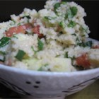 Lemon Tabouli - This fresh-tasting salad combines bulgur with the bright flavors of lemon juice and zest, mint, and parsley. A large bag of lemons, and the mint right outside the kitchen door inspired me to create this dish.