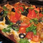 Mrs Espy's Enchilada Sauce - Tomato sauce, water, and seasonings are thickened with browned flour. Chicken or beef stock could be substituted for the water to heighten flavor.