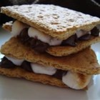 S'mores - Graham crackers with melted marshmallows and chocolate. Prepared over an open flame, this camping favorite is great for the holidays, too. Not recommended for the stove top.
