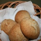 Italian Wheat Rolls - These are great-tasting wheat rolls made with olive oil, regular bread flour, and whole wheat flour.  This recipe happened one night when I was making white Italian rolls, and I ran out of flour.  All I had left was wheat flour, and luckily for me, it worked out well.