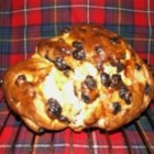 Selkirk Bannock - A lightly sweetened quick bread with golden raisins.