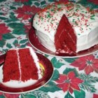 Ravishing Red Velvet Cake - This version of the classic is made with buttermilk. It's iced with cream cheese frosting.