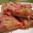 Rhubarb Bars  - This is a wonderful spring time recipe or even a winter one! Best if served fresh.