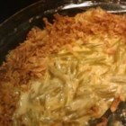 Rich Green Bean Casserole - If you like rich casseroles you'll love this!! Green beans are baked in a creamy cheese sauce with a zesty seasoning.