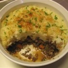 Vegetarian Shepherd's Pie II - This is a hearty combination of lentils and barley baked with carrots and onions, topped with  mashed potatoes.