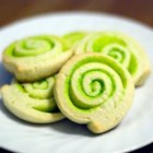 Jewel Swirls - Sour cream and gelatin pinwheeled cookie...the dough needs to be refrigerated for at least 3 hours.