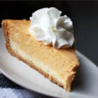 Double Layer Pumpkin Cheesecake - This cake combines the best of two treats, cheesecake and pumpkin pie, for the ultimate party dessert.