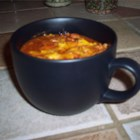 Mom's Chili - Ground beef is slowly simmered with onion, ranch-style beans, diced tomatoes and green chiles and spices.
