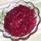 Cranberry Apple Sauce - A good cranberry sauce for those who are avoiding a lot of sugar, which is usually abundant in cranberry sauces. Originally submitted to ThanksgivingRecipe.com.
