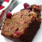 Cranberry Nut Bread I - A moist quick bread with a faint hint of orange flavor, and the tang of bits of cranberries.