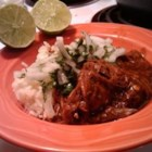 Chicken Mole with Four Chiles - An authentic Mexican dish - chicken slow cooked in a delectable sauce of chiles with a rich, never overpowering, chocolate background. Wonderful served with warm corn tortillas, rice and beans. Plan to have quite a mess to clean up afterward!