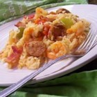 Bubba's Jambalaya - Easy Southern classic, with chicken, sausage, ham, and shrimp.