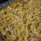 Crawfish Fettuccine I - One word -- delicious!  This creamy dish will leave them begging for more.  The crawfish and Cajun seasonings give a new twist to fettuccine.