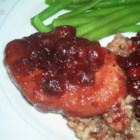 Cranberry Pork Chops II - Sweet cranberry pork chops simmered to perfection.