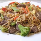Chinese Fried Noodles - A quick and easy stir-fry using ramen noodles and any variety of your favorite vegetables and meat, with a little hint of sesame and soy.