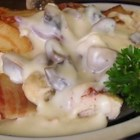 Bacon Mushroom Chicken - A robust dish with fresh mushrooms and a blanket of cream.