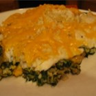 Aunt Carol's Spinach and Fish Bake - Simple, easy fish recipe. Any white fish will do! And even the kids will eat up the spinach! (My four year old loves this dish!) This recipe was passed on by my Aunt and was a little bit of this, a little bit of that - so tweak the ingredients to your liking!