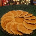 French Cookies (Belgi Galettes) - Pressed in a galette iron and cooked on the stove, these delicious brown sugar cookies are a Christmas tradition in southeast Kansas.