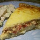 Fresh Green Chile Quiche - Three cheeses and green chile peppers are baked together in a delicious quiche.