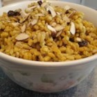 Indian Curried Barley Pilaf - This is a delicious and savory curried barley dish.  It is fabulous as a main dish, or as a side dish with fish or grilled chicken breast. It is quite simple to make and sure to impress!