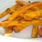 Spicy Baked Sweet Potato Fries - These are so tasty your family won't believe they are eating healthy! Nothing this good for you should taste so good...or be this easy to cook. These are delicious plain, but may be dipped in honey mustard sauce, ketchup, or even guacamole.