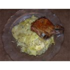Pork Chop and Cabbage Casserole - Baked pork chops, cabbage and potatoes with a creamy chicken sauce.