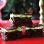 Chocolate Mint Dessert Brownies - It's a brownie covered in mint cream topped with chocolate, mmmmmm!