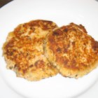 Salmon Cakes III - Salmon patties with onion and fresh bread crumbs fried in hot oil.  Simple and delicious.
