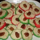 Cream Cheese Christmas Cookies - These look so nice for Christmas with the red and green sprinkles.