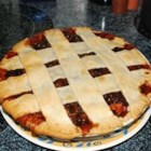 Old Time Mincemeat Pie - An old-fashioned mincemeat pie filling made with beef, dried fruit, and sour cherries.
