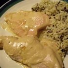 Southern Apricot Chicken - This is a creamy Southern style apricot chicken recipe that the entire family will love. Make it for guests and they will never know how easy it was! Serve with rice Pilaf.