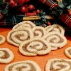Date Nut Pinwheel Cookies I - Rolled cookies with a date-filled center.