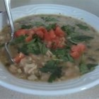 White Turkey Chili - Tasty white chili that can be made with turkey or chicken. Jalapeno peppers give just enough kick!