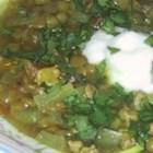 Turkey-Lentil Chili - This bright, delicious lentil chili uses turkey sausage in place of ground beef.