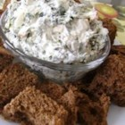 Spinach Dip with Water Chestnuts - Water chestnuts add a delightful twist to this chilled spinach dip. Serve with wheat crackers or rye bread. I hope you will enjoy this. My family loves it!